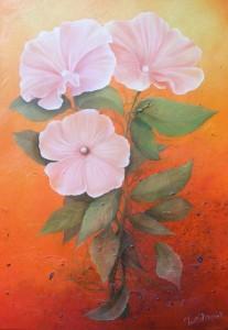 Trois fleurs (50X70)