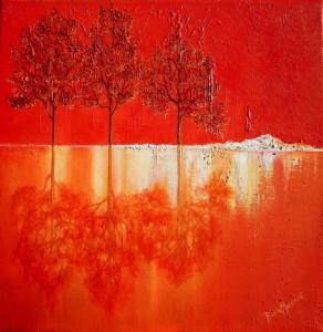 Paysage rouge (19.50X50)