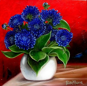 Bouquet bleu (30X30)