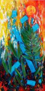 Feuilles et couleurs (50X100)