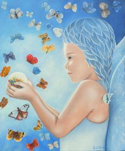 La petite fille aux papillons (33X66)