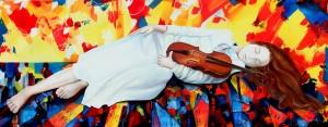 Le violon d'Alma (100X40)