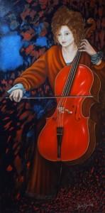 Le jour du violoncelle (50X100)