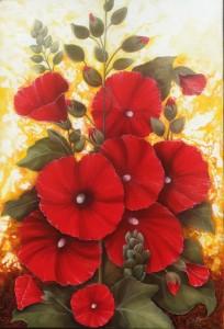 Fleurs rouges (50X73)