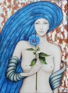 La fleur bleue (61X46)