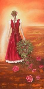 Jeune fille en marche (30X60)