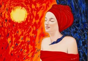 Rêverie en rouge et nuit (92X64.50)